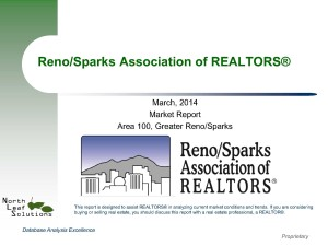 Reno Real Estate Report